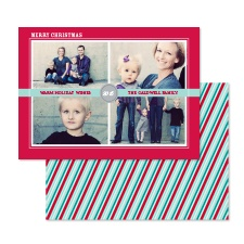 Cool Stripes Photo Holiday Card
