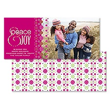 Joyful Kaleidoscope Photo Holiday Card