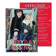Everyday Blessings Photo Holiday Card
