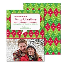 Argyle Message Photo Holiday Card