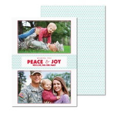 Peace and Joy Photo Holiday Card