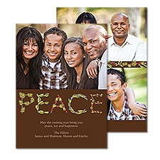 Leafy Peace Photo Holiday Card