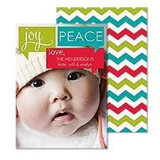 Joyful Messages Photo Holiday Card - English