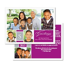 Great Greetings Photo Holiday Card - Amethyst