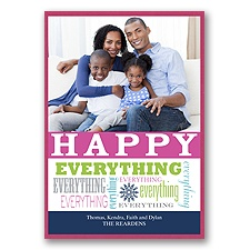 Celebrate Everything Layered Photo Holiday Card