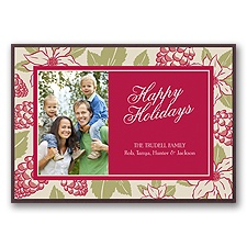 Winter Blooms Layered Photo Holiday Card