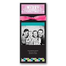 Christmas Dots Layered Photo Holiday Card