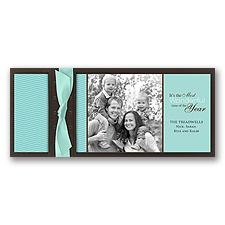 Wonderful Wishes Layered Photo Holiday Card