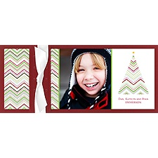 Zigzag Tree Layered Photo Holiday Card