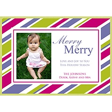 Sweet Stripes Layered Photo Holiday Card