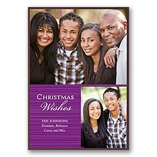 Classic Greeting Layered Photo Holiday Card - Grapevine