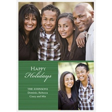 Classic Greeting Layered Photo Holiday Card - Hunter