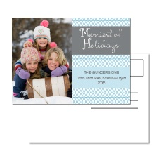 Merriest of Holidays Photo Holiday Postcard