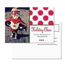 Cheerful Dots Photo Holiday Postcard