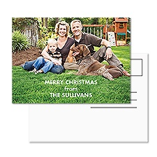 Holiday Portrait Photo Holiday Postcard