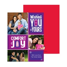 Comfort and Joy Photo Holiday Card - Amethyst