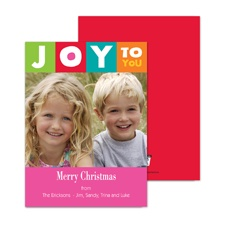 Joy to You Photo Holiday Card