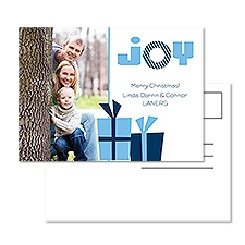 Gift of Joy Photo Holiday Postcard
