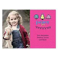 Adorable Wishes Photo Holiday Card