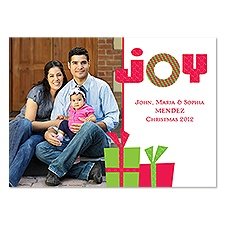 Gift of Joy Photo Holiday Card