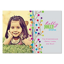 Jolly Bright Photo Holiday Card