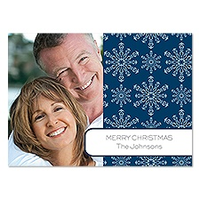 Snowy Night Photo Holiday Card