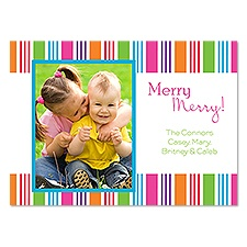 Merry Bands Photo Holiday Invitation