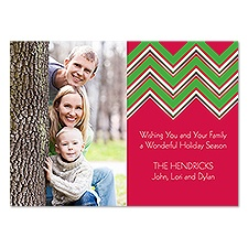 Holiday Chevron Photo Holiday Card