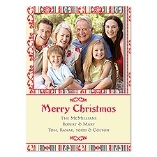 Folk Art Photo Holiday Card