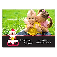 Whimsical Santa Photo Holiday Card