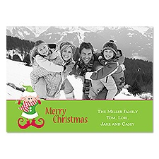 Whimsical Elf Photo Holiday Card