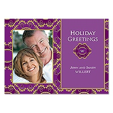 Regal Crests Photo Holiday Card