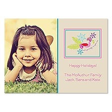 Pretty Partridge Photo Holiday Card