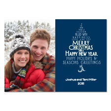 Wishes Tree Photo Holiday Card - Midnight