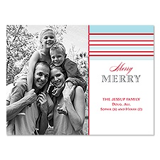 Merry Stripes Photo Holiday Card