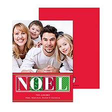 Bold Noel Photo Holiday Card