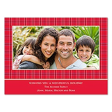 Tiny Plaid Photo Holiday Card