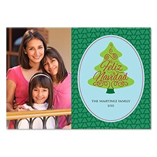 Feliz Navidad Tree Photo Holiday Card