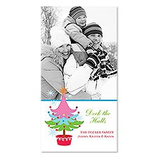 Whimsical Tree Photo Holiday Card