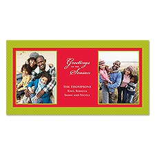 Seasonal Greetings Photo Holiday Card