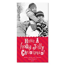 Jolly Wishes Photo Holiday Card