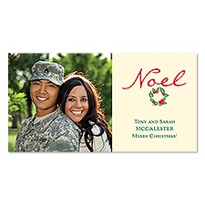Noel Wreath Photo Holiday Card