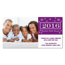 Starry New Year Photo Holiday Card - Grapevine