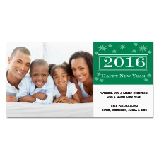 Starry New Year Photo Holiday Card - Hunter