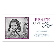 Holiday Peace Photo Holiday Card