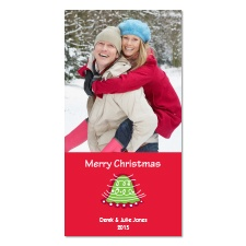 Whimsical Bell Photo Holiday Card