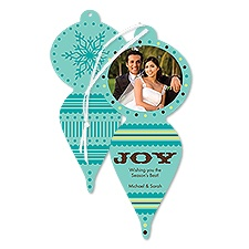 Snowy Joy Photo Holiday Card Ornament