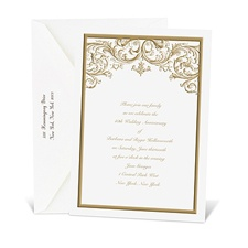 White Enduring Love Anniversary Invitation