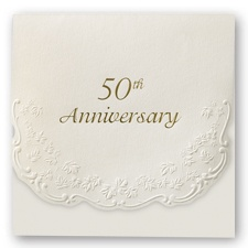 Elegant 50th Anniversary Invitation