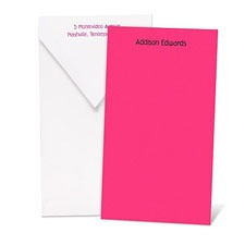 Color Your World Fuchsia Note Card